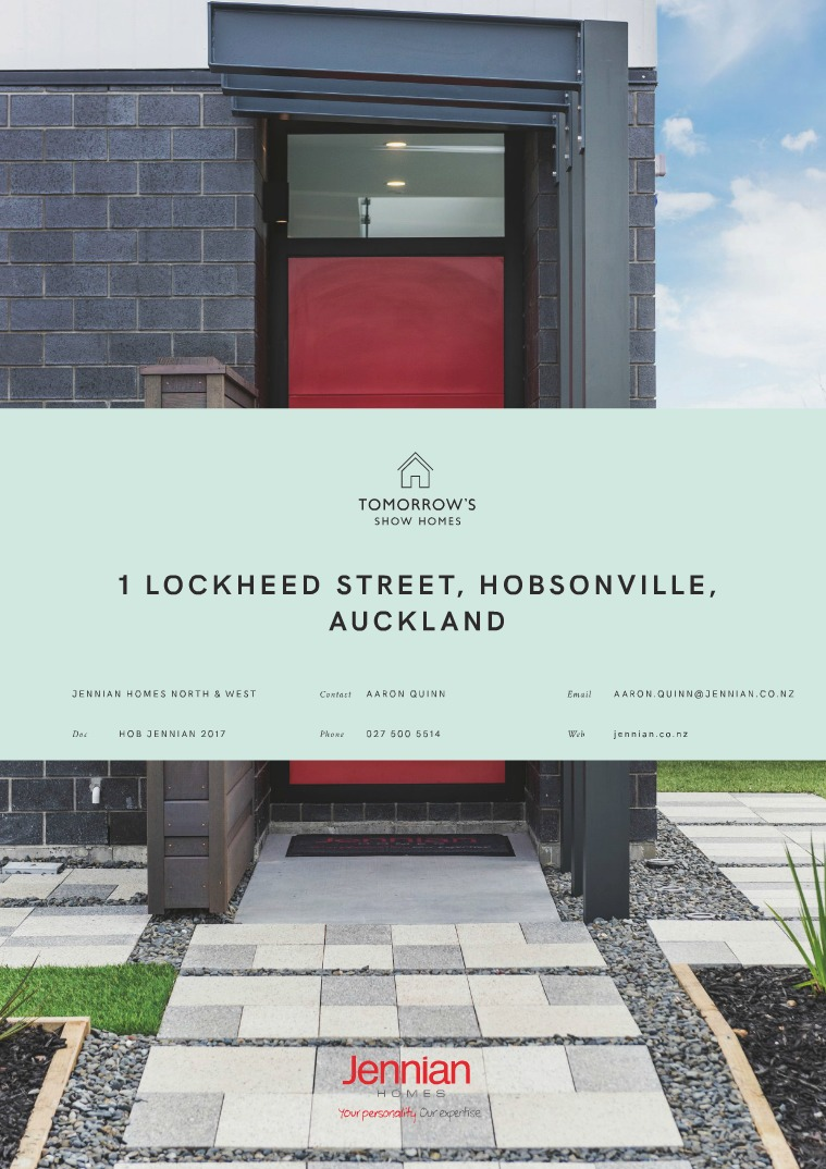 Tomorrow's Show Homes 1 Lockheed Street, Hobsonville, AUCKLAND