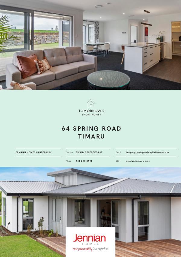 Tomorrow's Show Homes 64 Spring Road, TIMARU