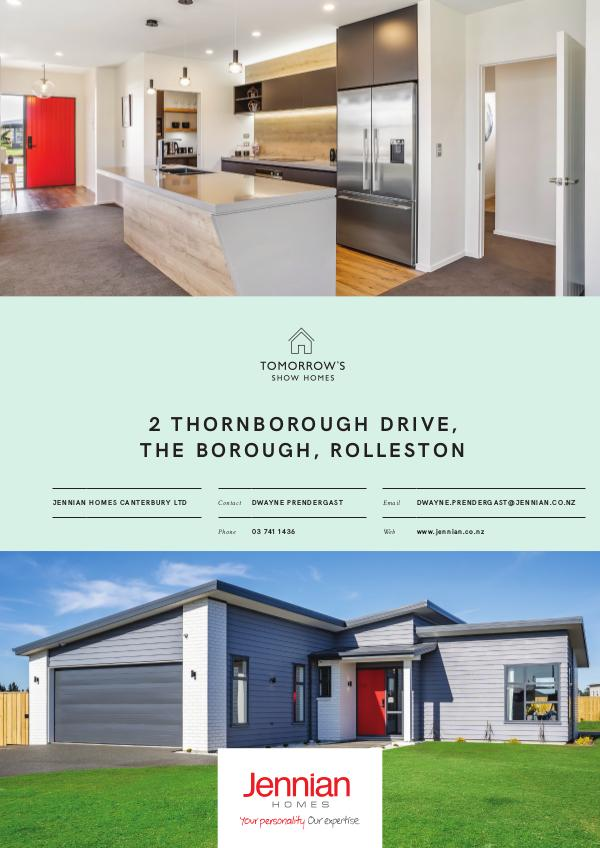 Tomorrow's Show Homes 2 Thornborough Drive, The Borough, ROLLESTON