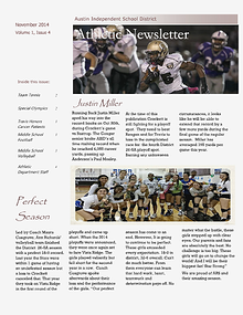 Austin ISD Athletic Newsletter