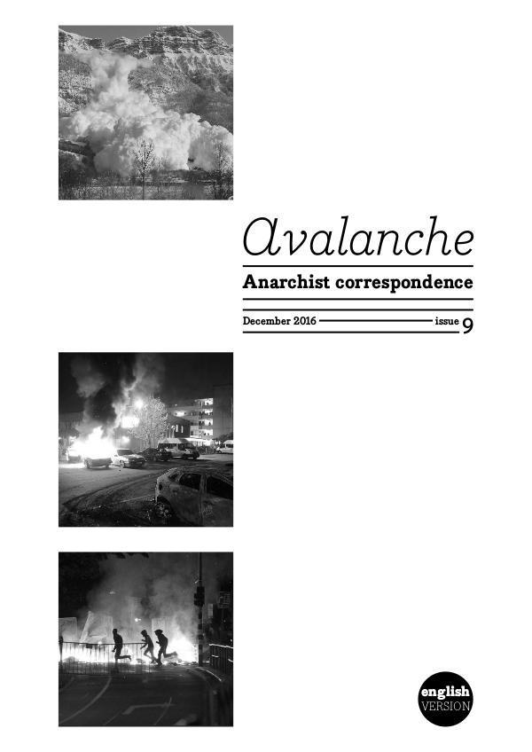 Avalanche - The Anarchist correspondence zine Avalanche - The Anarchist correspondence zine 9