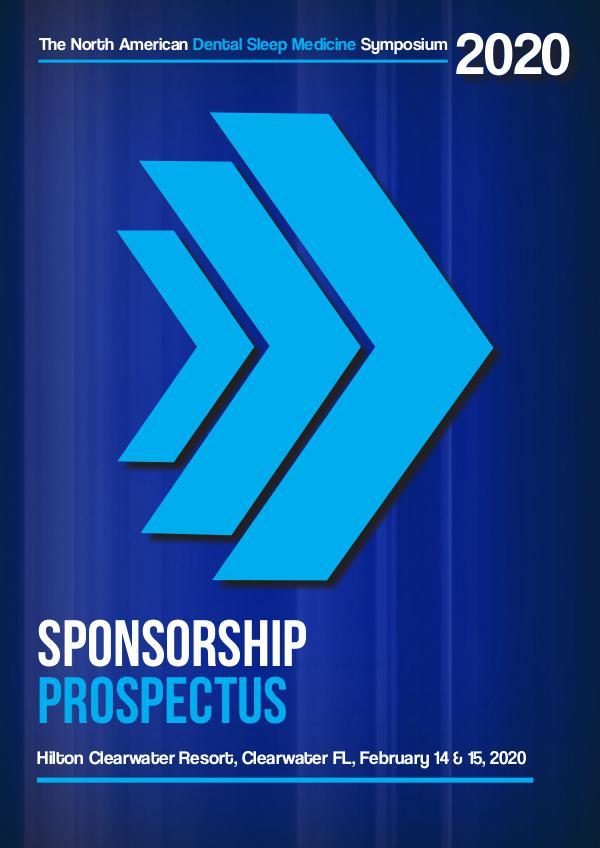 2020 NADSM Symposium Exhibitor Prospectus Sponsorship Prospectus 2020