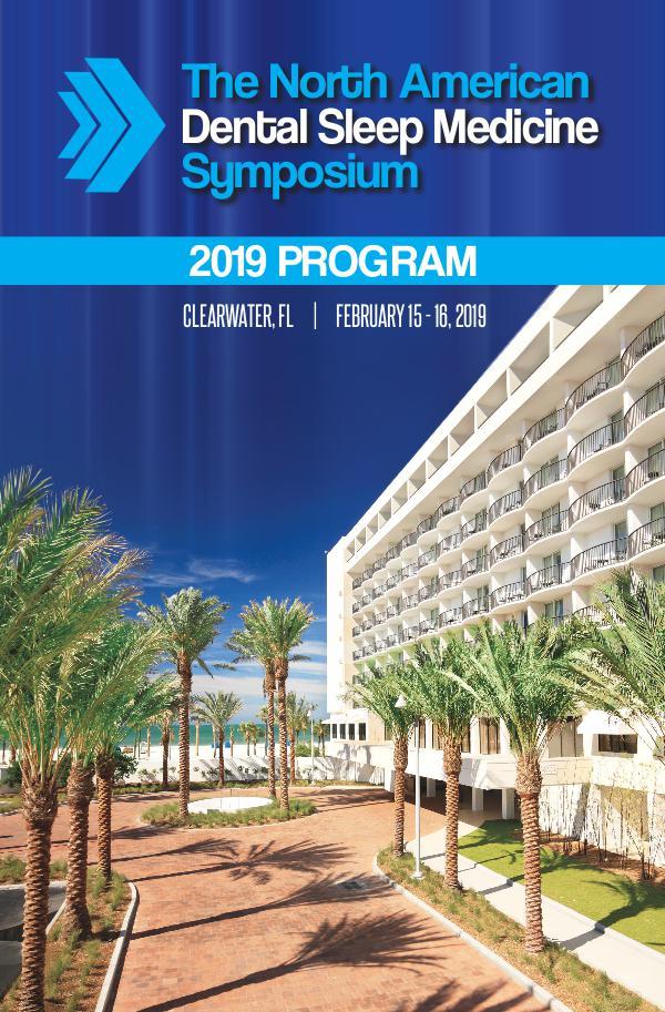 2019 NADSM Symposium Program 2019 Symposium Program