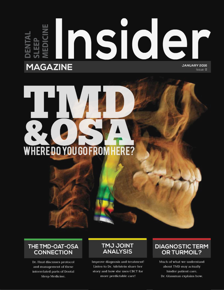 Dental Sleep Medicine Insider January 2016