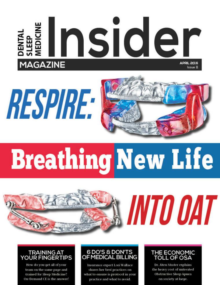 Dental Sleep Medicine Insider April 2016