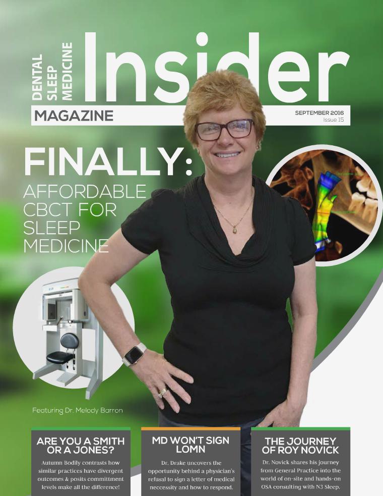 Dental Sleep Medicine Insider September 2016