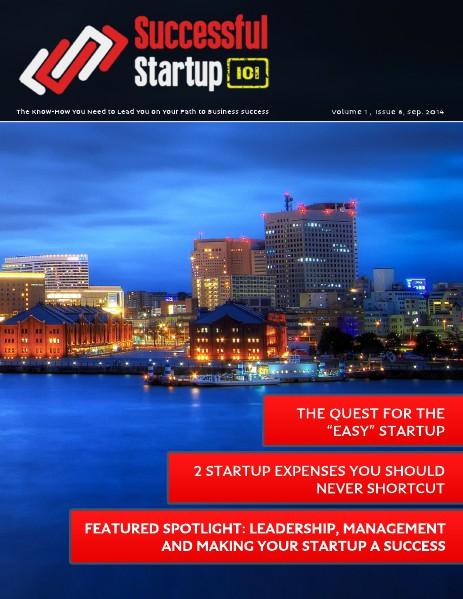 Successful Startup 101: September 2014 Successful Startup 101: September 2014