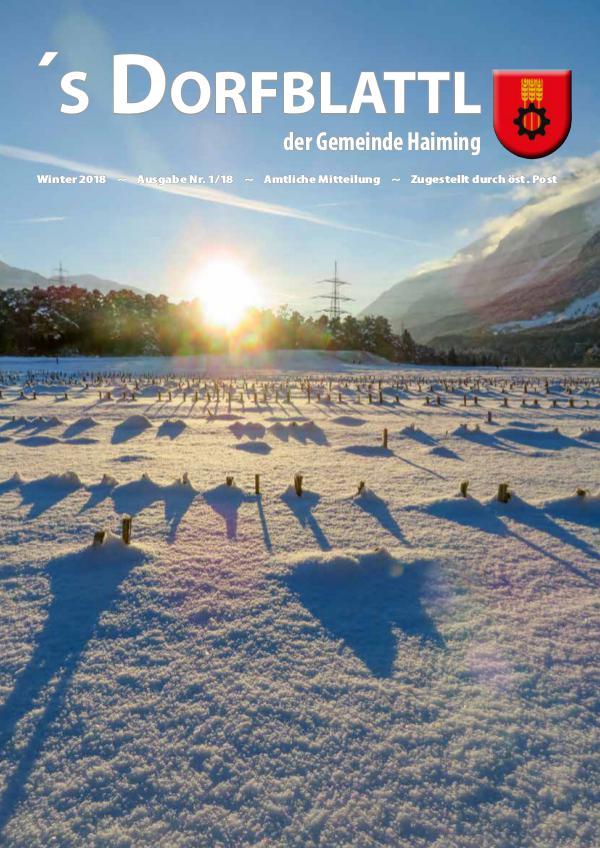 Dorfblattl Haiming Winter 2018 - 01/18