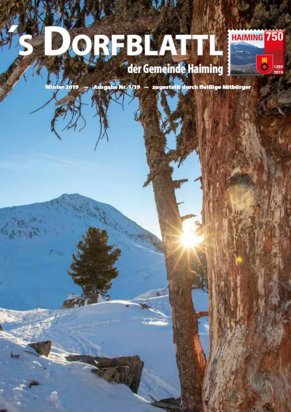 Dorfblattl Haiming Winter 2019 - 01/19