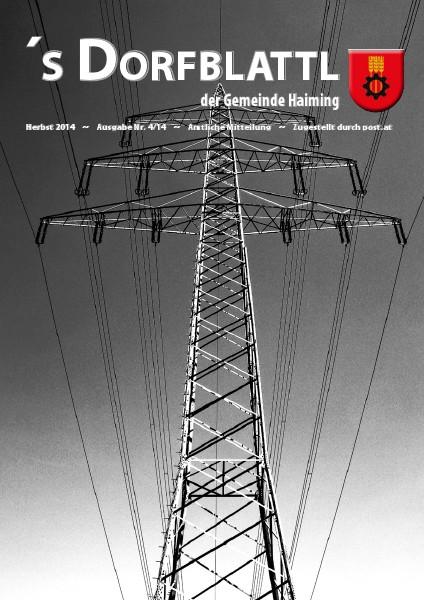 's Dorfblattl Haiming - Digitalausgabe Dorfblattl Haiming Herbst 2014 - 04/14