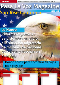 Pasa La Voz Magazine SAN JOSE, CA  January 2013