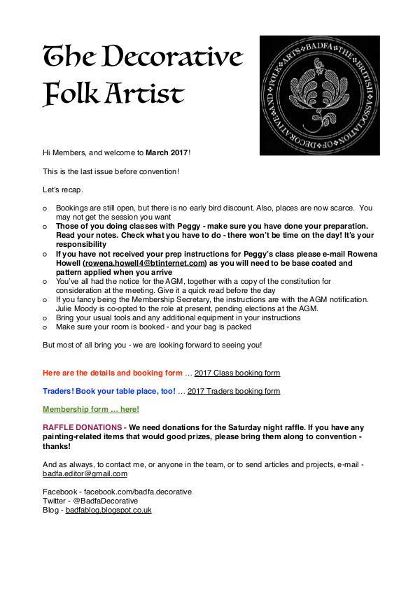 The Decorative Folk Artist February/March 2017