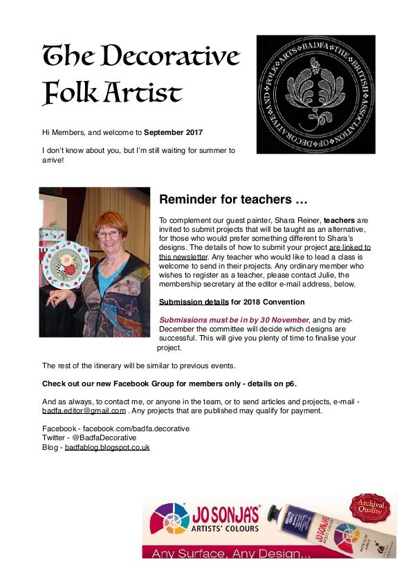 The Decorative Folk Artist September 2017