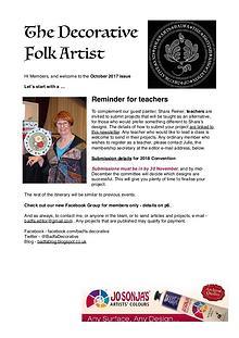 The Decorative Folk Artist October 2017