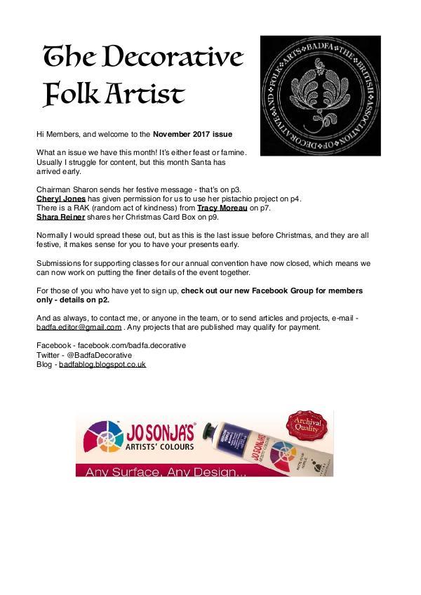 The Decorative Folk Artist November 2017