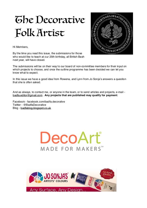 The Decorative Folk Artist Issue 110