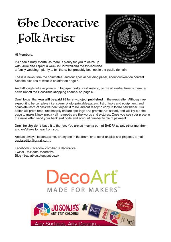 The Decorative Folk Artist Issue 112