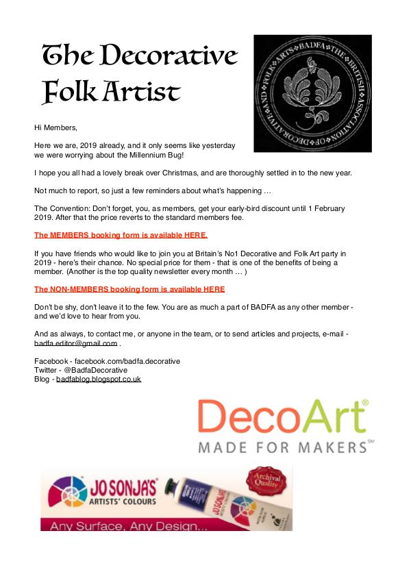 The Decorative Folk Artist Issue 115