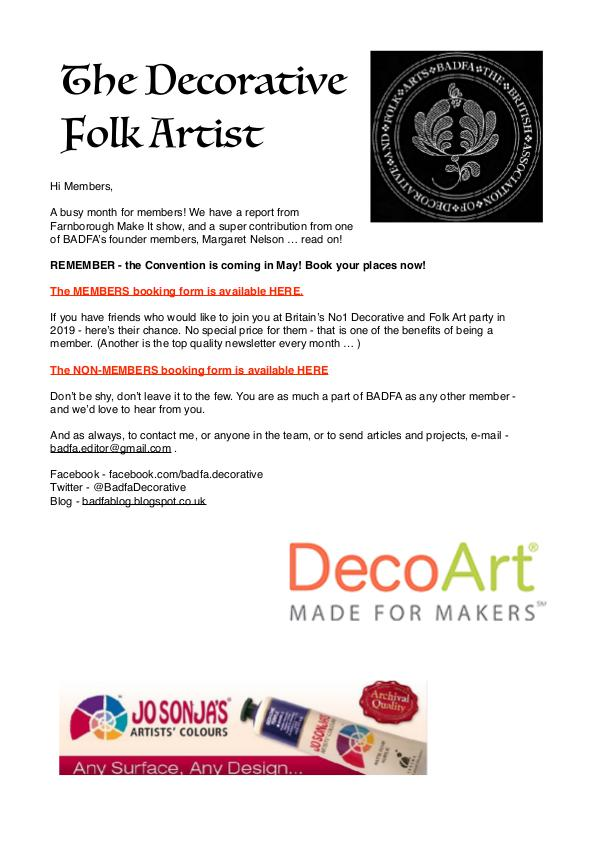The Decorative Folk Artist Issue 117