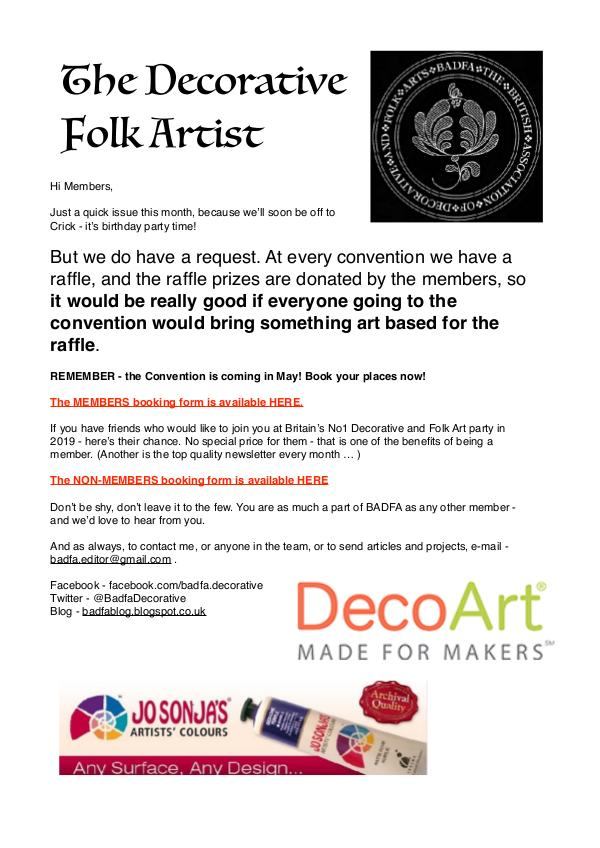 The Decorative Folk Artist Issue 119
