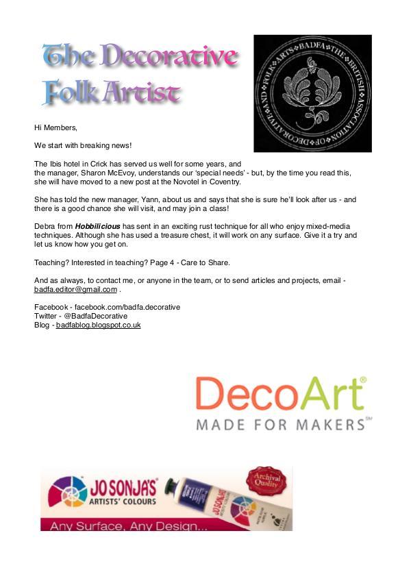 The Decorative Folk Artist Issue 121