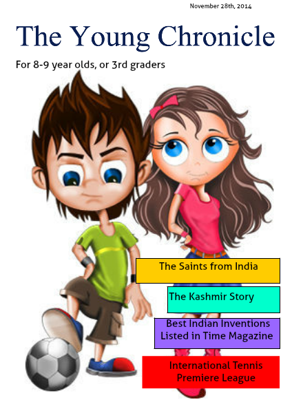 The Young Chronicle: For Grade 3 November 28th, 2014