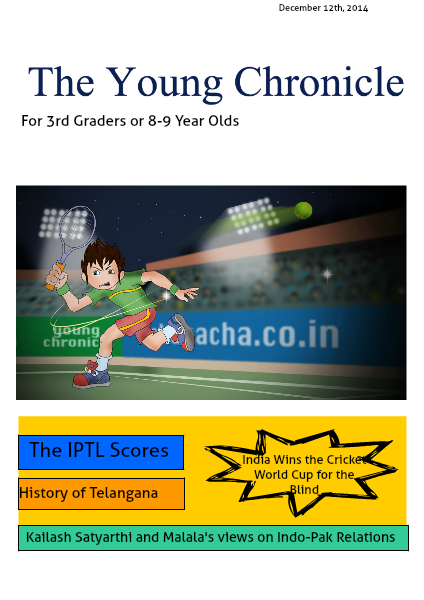 The Young Chronicle: For Grade 3 December 12th, 2014
