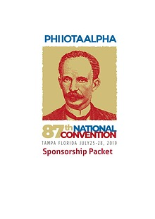 Phi Iota Alpha - National Convention Sponsorship Package
