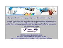 Soft system solution- Trustworthy IT company