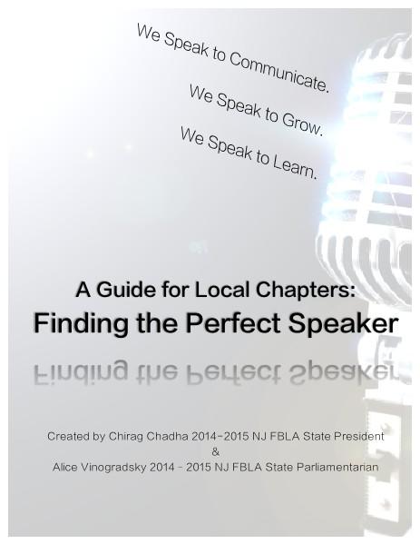 FBLA Speaker Resource