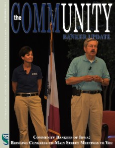 Community Bankers of Iowa Monthly Banker Update September 2013