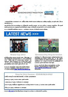 Street Soccer Scotland Newsletter - December 2013