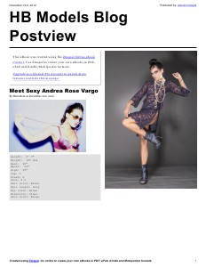 HB Models Management Blog 1