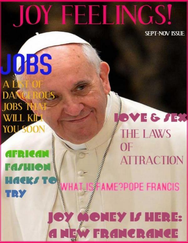Joy feelings magazine September 2019 Issue