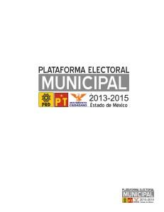 Plataforma Municipal de Izquierda 2013 2015 Diciembre 2012