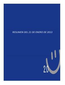 RESUMEN 21 DE ENERO DE 2013 R2013ENE