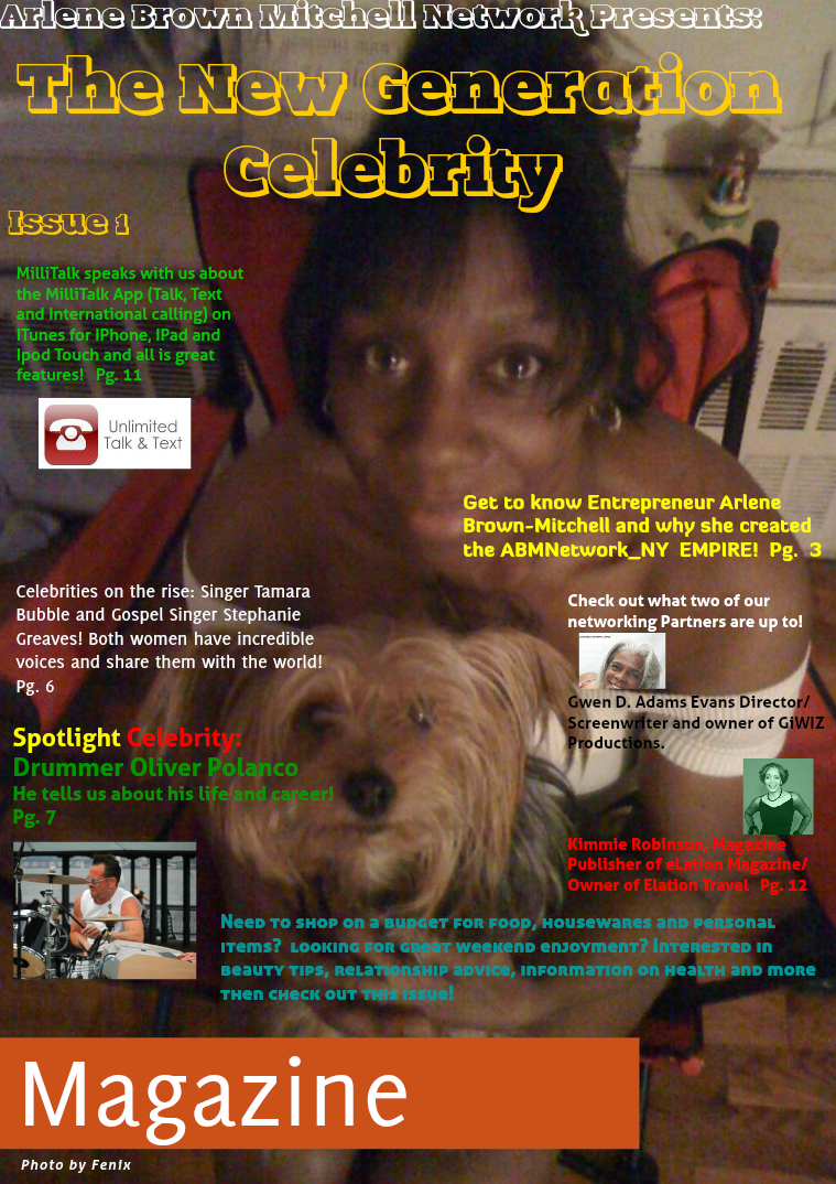 Arlene Brown Mitchell Network Presents: The New Generation Celebrity Issue 1