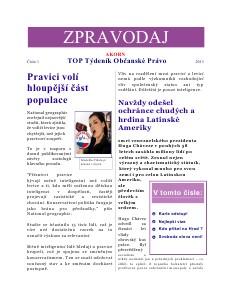 TOP Týdeník Občanské Právo - březen
