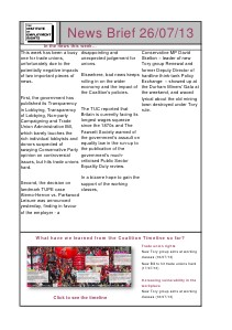 Weekly Employment Law News Briefs 26/07/13