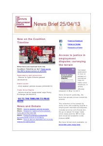 Weekly Employment Law News Briefs 25/04/2013