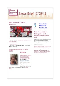 Weekly Employment Law News Briefs 17/05/2013