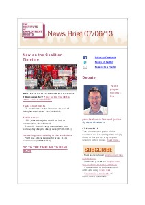 Weekly Employment Law News Briefs 07/06/2013