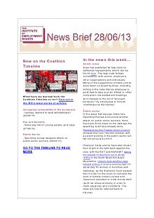 Weekly Employment Law News Briefs
