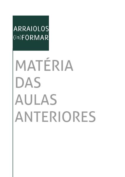 Arraiolos (in)formar -   Material de apoio aos alunos