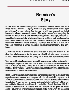 Brandons Story 1