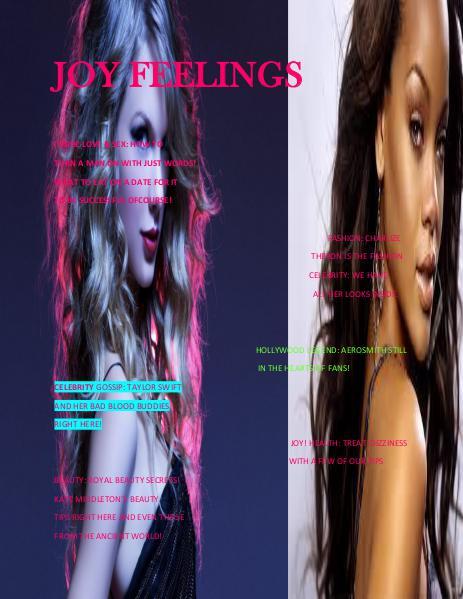 JOY FEELINGS MAGAZINE AUGUST ISSUE