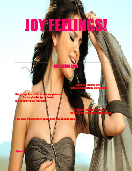 JOY FEELINGS MAGAZINE July issue 2106