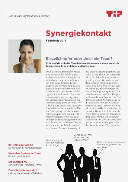 Synergiekontakt 2014 Synergiekontakt Februar 2014
