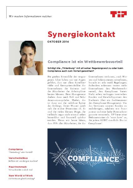 Synergiekontakt 2014 Synergiekontakt Oktober 2014