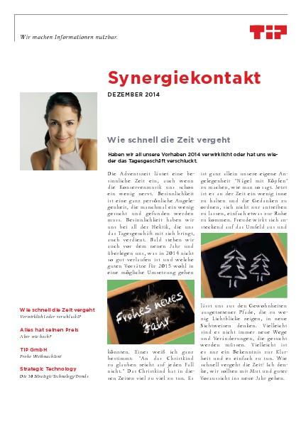 Synergiekontakt 2014 Synergiekontakt Dezember 2014